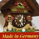 ドイツ製 掛け時計 高さ23cm 小さなカッコー時計 【アウル】 カッコーの鳴き声/ミュージックの音色 両音切り替え可能 送料無料 単三型乾電池2本のオマケ付き