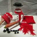 雪だるまセット スノーマンキット 雪が降ったら ・・・ 雪だるまを作りましょう 【Snowman kit】高さ26,5cmスノーマン型ケース入り