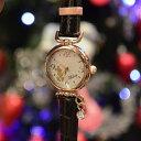 Disneyディズニー腕時計 レディースウオッチ チャーム付きミッキー ブラウンベルト【楽天キャラクター腕時計ランキング1位獲得品】