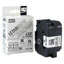 マックス MAX レタリテープ ビーポップ ミニ PM-36H用 [36mm幅 白 黒文字] LM-H536BW【メール便不可】