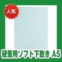 【メール便対象】ソフト下敷き 硬筆用【A5サイズ】NO.605 薄グリーン