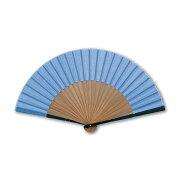 【メール便 送料無料】扇子 青の伝統色 淡群青