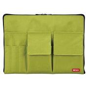 リヒトラブ バッグインバッグ A4 黄緑 A-7554-6【メール便不可】