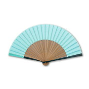 【メール便 送料無料】扇子 青の伝統色 浅葱色