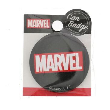 【メール便対象】MARVEL マーベル 缶バッジ チラシ ブラック ファッション雑貨