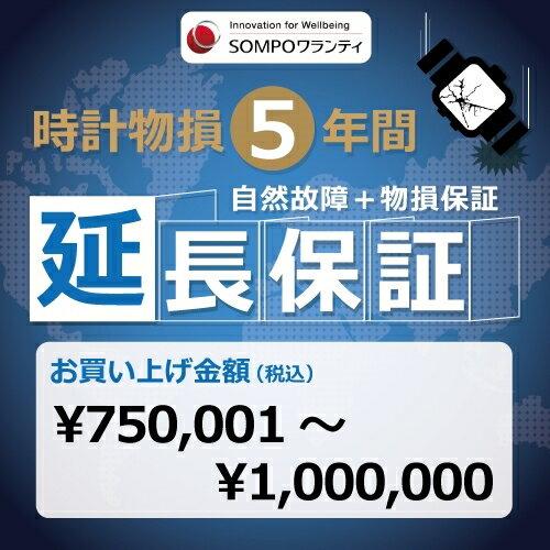 時計物損5年延長保証 商品代金750,001円〜1.000,000円