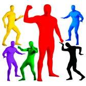 全身タイツ 青 黄 黒 赤 緑 紫 ハロウィン 衣装 パーティ衣装 仮装 余興 イベント カラーボディタイツ カラー 戦隊 ハロウィンコスプレ 余興(ゆうパケットなら送料無料) 2016Sep
