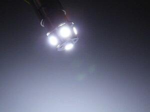 G18超高輝度3chip6連LED白1個コーナー球/ナンバー灯・バイクにも