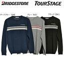 【送料無料】【2016年秋冬モデル】BRIDGESTONE GOLF ブリヂストン TOURSTAGE ツアーステージ メンズ セーター ETM01B