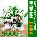 お供えのお花 5000円 (税込5400円)アレンジおまかせコース! アレンジメントフラワー お盆