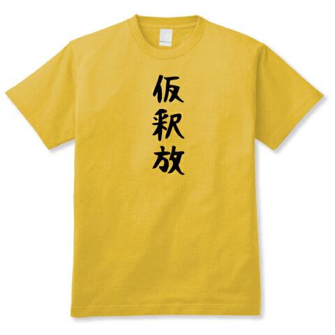 【おもしろ日本語ギャグTシャツ】「仮釈放」DDY 送料無料
