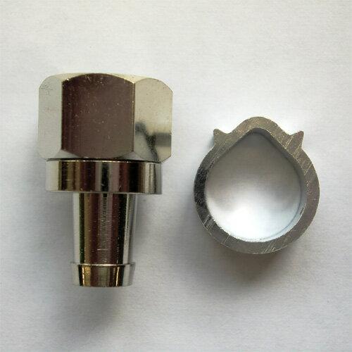 F型(アンテナ)接栓 5C用 アルミM型リング付 5ヶ入 1袋 送料こみ込み 普通郵便ご利用で 日本全国どこでも F-5