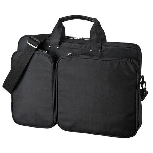 【訳あり 新品】パソコンバッグ(ブラック・衝撃吸収タイプ・15.6インチワイドまで対応) BAG-P22BK サンワサプライ ※箱にキズ、汚れあり