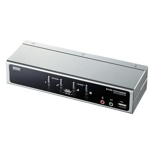 【訳あり 新品】パソコン切替器(VGA・USB・PS/2対応・4:1・USB2.0ハブ・2ポートまで・自動・エミュレーション機能) SW-KVM4HVCN サンワサプライ ※箱にキズ、汚れあり 【送料無料】