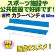 【びっくり特典あり】【屋外用】 カラーベンチ(BL) B-3(1800) 【コートベンチ】【スポーツベンチ】【予約】
