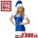 クリスマス 衣装 仮装 送料無料ブルー サンタ チューブトップタイプ ミニスカート コスチューム【ランジェリー】【コスプレ/こすぷれ】【送料込み】【クリスマス/Christmas】