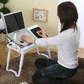 ノートPCデスク Pcデスク ローテーブル 学習デスク ロータイプ ノート 折りたたみ 折り畳み 机 つくえ 多機能 パソコン机 ホワイト ブラック おしゃれ パソコンデスク