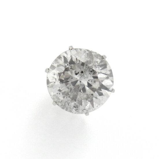 1.631ct 大粒ラウンドカット 一粒ダイヤモンド 立て爪スタッド Pt900片耳ピアス【新品】