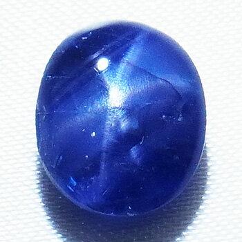 【新品】4.110ct 天然ブルースターサファイア ルース スター効果が美しい!日宝協ソーティング付き