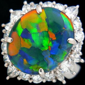 ブラックオパール6.80ct ダイヤ1.81ct...の商品画像