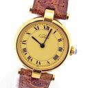 【中古】【カルティエ】マストドゥカルティエヴェルメイユクォーツレディースヴィンテージ腕時計