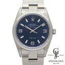 ロレックス メンズ エアキング 14000 U番 青文字盤 369 アラビア数字・バーインデックス 34mm ステンレススチール製 自動巻き 腕時計
