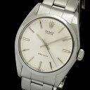 【中古】アンティーク ロレックス オイスター 6420 シルバー文字盤 バーインデックス 手巻き メンズ腕時計