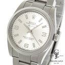 ロレックス メンズ エアキング 114200 ランダム シルバー文字盤 アラビア数字 369×バー ステンレススチール ルーレット 自動巻き 腕時計