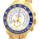 【中古】ロレックス ヨットマスターII 116688 白文字盤 K18YG 金無垢 M番 ルーレット刻印有 自動巻き メンズ 腕時計