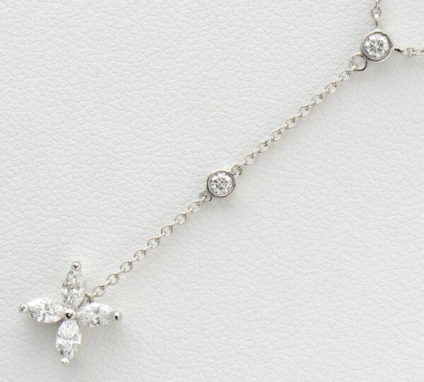 ティファニー ビクトリア ロングドロップ ダイヤモンド ネックレス プラチナ【】(2200000190925)
