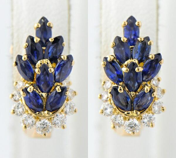 ピアジェ ブルーサファイア ダイヤモンド イヤリング 18金【】(2200000210852):福岡宝石
