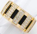ショーメ クラスワン フル ダイヤモンド 18金イエローゴールド 10号 リング・指輪【中古】(2200000224200)