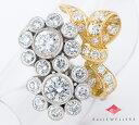 ポンテヴェキオ 花 リボンモチーフ ダイヤモンド計2.03ct 18金ホワイトゴールド/18金