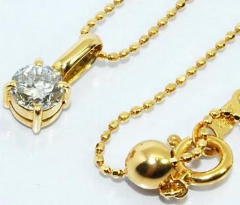 【送料無料】K18 ダイヤモンド-0.350ct シンプル プチペンダントネックレス【smtb-tk】【fsp2124】 出しゃばらないけど存在感はあります!