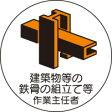 ヘルメット用ステッカー 370-24建築物等の鉄骨の組立等作業主任者2枚組 【標識・表示・シール・テープ・サイン・マーク】