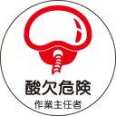 ヘルメット用ステッカー 370-30酸欠危険作業主任者 2枚組 【標識・表示・シール・テープ・サイン・マーク】