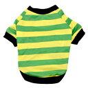 【PET】【なごみ】ペット用 20ボーダーSSTシャツ 3号 カラー:3.グリーン JAN:4580418468600【T】