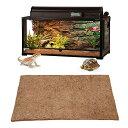 ココナッツマット 爬虫類マット底砂 床材 昆虫飼育 リクガメ 両生類用底砂 通気性寝具ライナーマット ペット装飾 大型 80×40CM