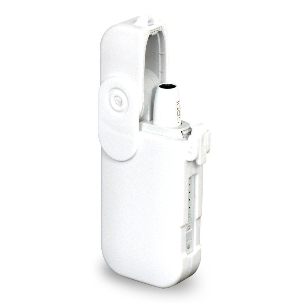 iQOSロックハードケース / アイコス プラスチック ハード ケース / ブラック ホワイト クリア ワインレッド ピンク (ホワイト)