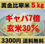 玄米(発芽玄米)と白米の黄金比率【玄米30%】配合ヘルシー米5kg無農薬(農薬・化学肥料不使用)