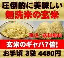 無農薬の玄米/玄氣4.5kg【1.5kg×3袋】無農薬(農薬化学肥料不使用)玄米が原料の発芽玄米福井