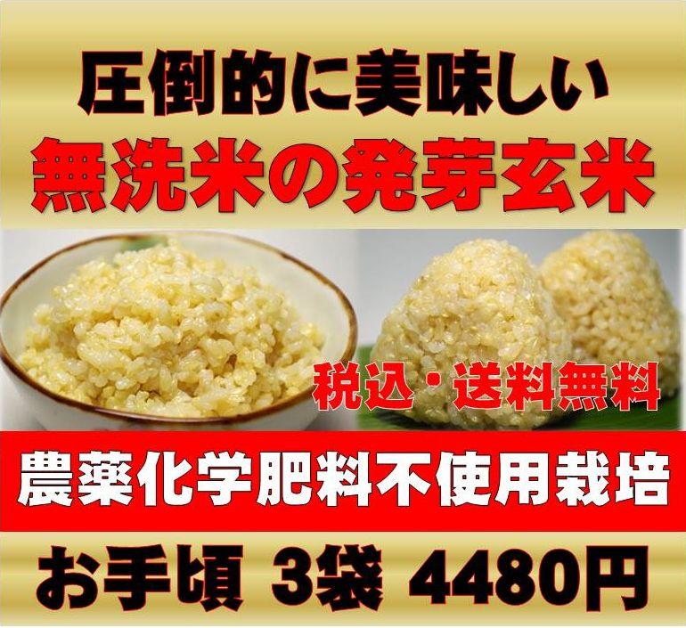【28年新米】無農薬 玄米 発芽玄米白米モード楽々炊飯!圧倒的に美味しい無農薬の玄氣1.5…...:genki-genmai:10000004