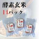酵素玄米ごはん 熟成5日目14パック 140g×14P 冷凍クール便で発送 自家産の新潟コシヒカリ使用 減農薬 有機肥料栽培