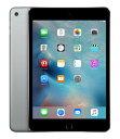 【中古】【安心保証】SoftBank iPadmini4 Wi-Fi+Cellular 32GB スペースグレイ