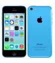 【中古】【安心保証】 au iPhone5c[32GB-a] ブルー