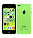 【中古】【安心保証】 au iPhone5c[32GB-a] グリーン