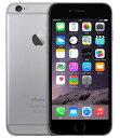 【中古】【安心保証】 au iPhone6[64GB] スペースグレイ