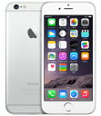 【中古】【安心保証】 au iPhone6[64GB] シルバー