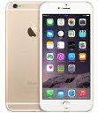 【中古】【安心保証】 SoftBank iPhone6Plus[128GB] ゴールド