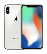 【中古】【安心保証】 au iPhoneX[256G] シルバー